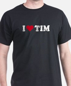 I Love TIM - Black T-Shirt