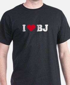 I Love BJ - Black T-Shirt