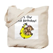 Triplets 2nd Birthday Tote Bag