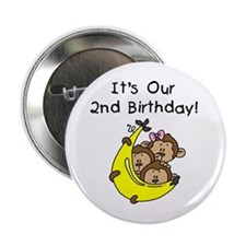 "Triplets 2nd Birthday 2.25"" Button"
