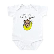 Twin Boy and Girl 2nd Birthday Infant Bodysuit