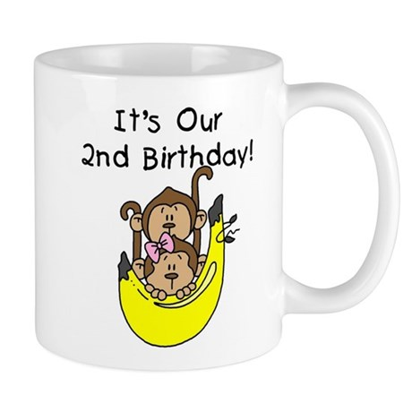 Twin Boy and Girl 2nd Birthday Mug