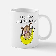 Twin Boy and Girl 2nd Birthday Mug