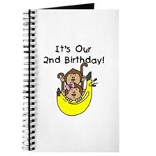 Twin Boy and Girl 2nd Birthday Journal