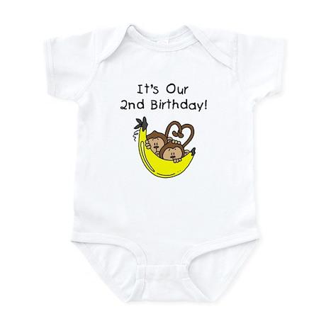 Twin Boys 2nd Birthday Infant Bodysuit