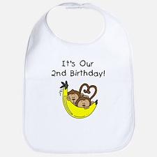 Twin Boys 2nd Birthday Bib