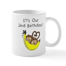 Twin Boys 2nd Birthday Mug