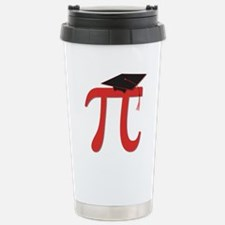 Red Pi Grad Travel Mug