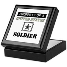 Property of a US Soldier Keepsake Box