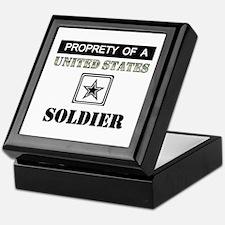 Property of a US Soldier Keepsake Box