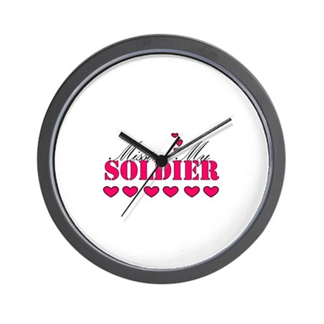 Missing my soldier Wall Clock