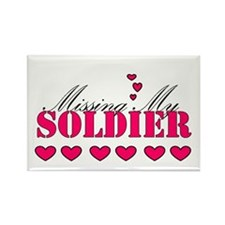 Missing my soldier Rectangle Magnet (100 pack)
