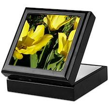 Yellow Tulips Keepsake Box