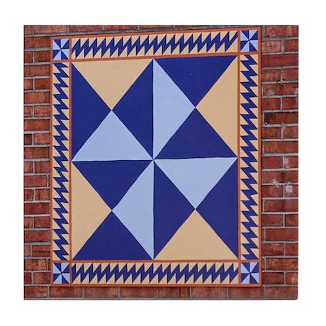 Hour Glass quilt square Tile Coaster