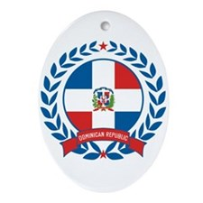 Dominican Republic Wreath Ornament (Oval)