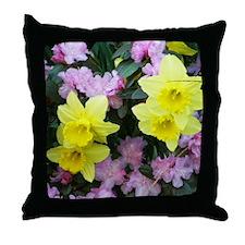 Daffodils / Azalea Throw Pillow