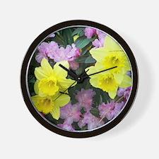 Daffodils / Azalea Wall Clock