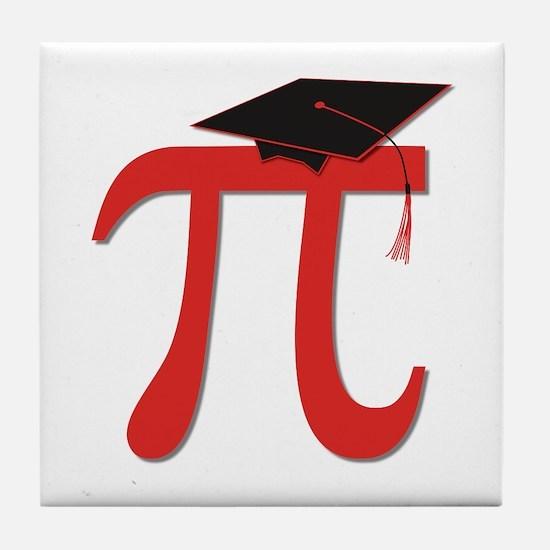 Red Pi Grad Tile Coaster