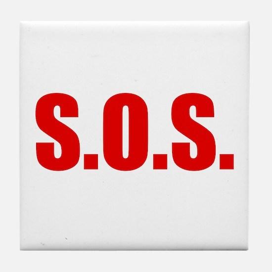 SOS Tile Coaster