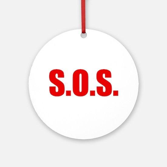 SOS Ornament (Round)