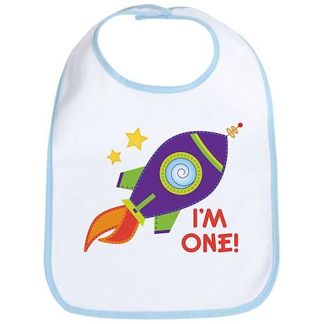 First Birthday Space Rocket Bib