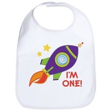 First Birthday Space Rocket Bib