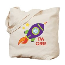 First Birthday Space Rocket Tote Bag