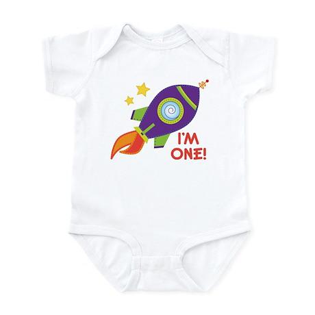 First Birthday Space Rocket Infant Bodysuit