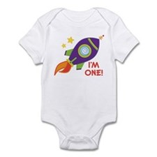 First Birthday Space Rocket Infant Bodysuit