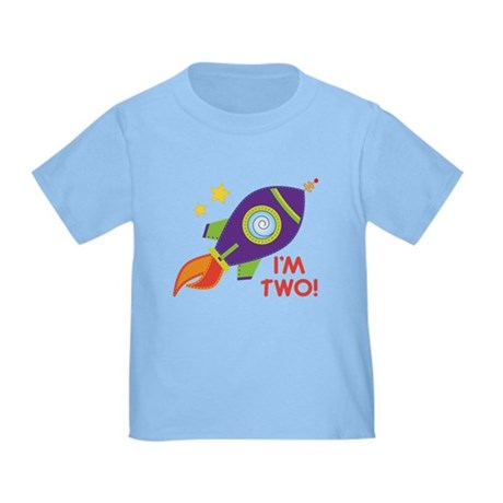 2nd Birthday Space Rocket Toddler T-Shirt