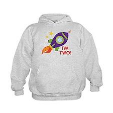 2nd Birthday Space Rocket Hoody