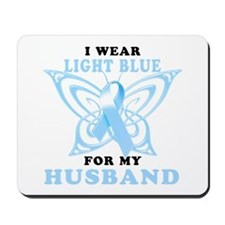 I Wear Light Blue for my Husband Mousepad