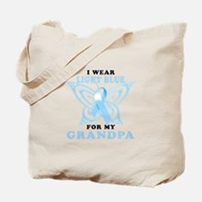 I Wear Light Blue for my Grandpa Tote Bag