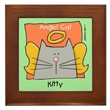 KITTY Gray Cat Memorial Framed Tile