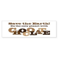Save the Chocolate! Bumper Sticker