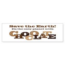 Save the Chocolate! Car Sticker