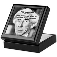 Clever Humour Bertrand Russell Keepsake Box