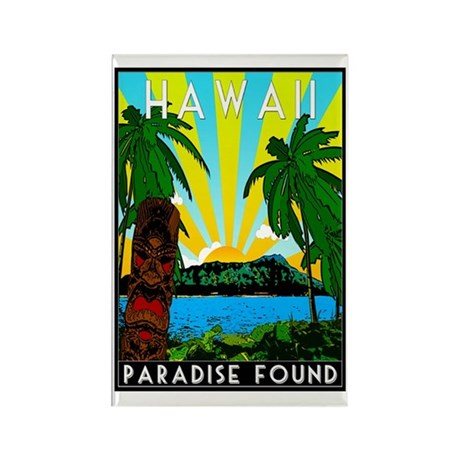 HAWAII - ART DECO Rectangle Magnet
