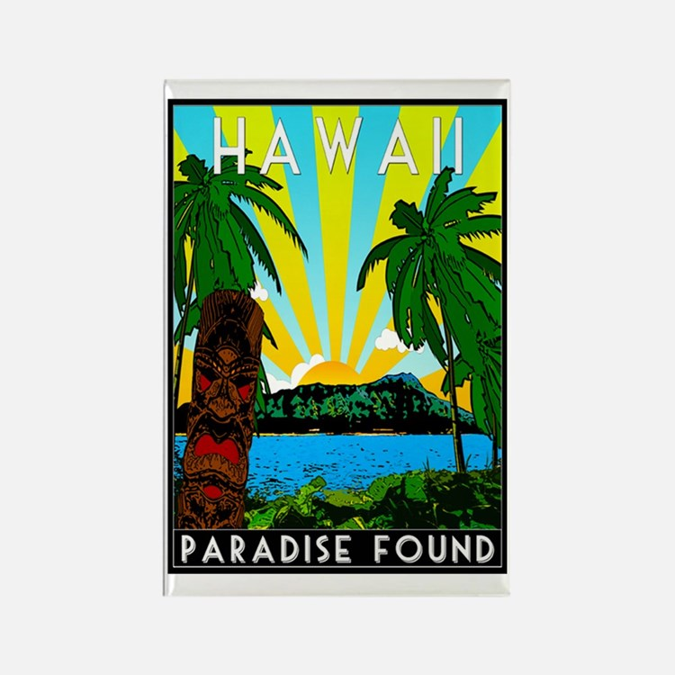 HAWAII - ART DECO Rectangle Magnet