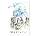 Blue Dragon 23x35 Poster Print