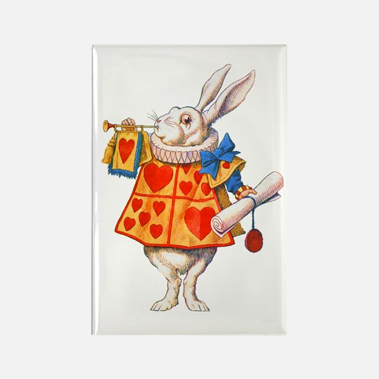 ALICE - THE WHITE RABBIT Rectangle Magnet