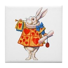 ALICE - THE WHITE RABBIT Tile Coaster