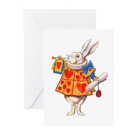 ALICE - THE WHITE RABBIT Greeting Cards (Pk of 20)