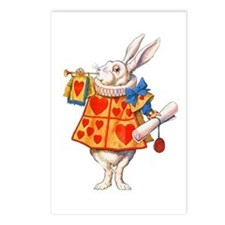 ALICE - THE WHITE RABBIT Postcards (Package of 8)