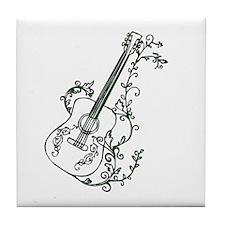 Ivy Guitar Tile Coaster