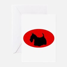 Scottie Silhouette Greeting Cards (Pk of 10)