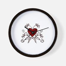 Ivy Heart Wall Clock