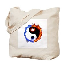 Ying Yang Ice and Fire Tote Bag