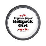Everyone loves a Redneck Girl ~  Wall Clock