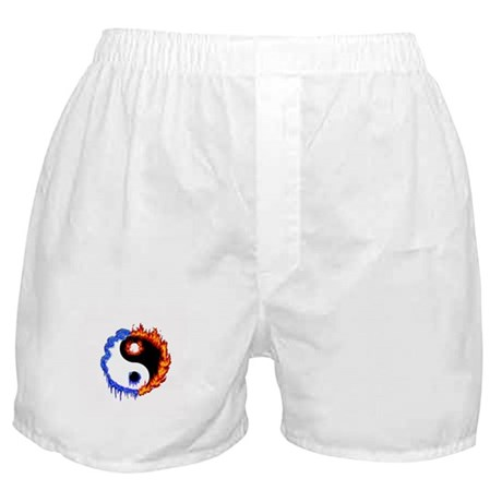 Ying Yang Ice and Fire Boxer Shorts